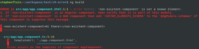 Compilation Errors Improvements in Angular 9