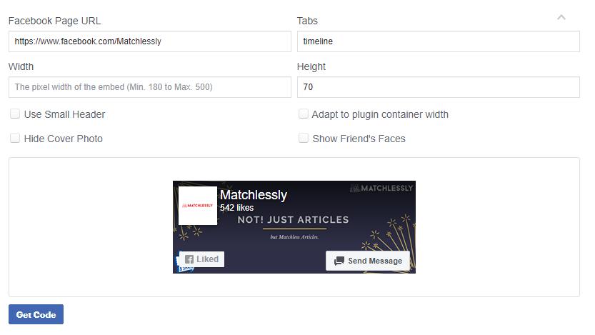 Facebook page like plugin